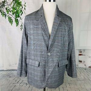 PROLOGUE Men's Glen Check Plaid Sportcoat  XL